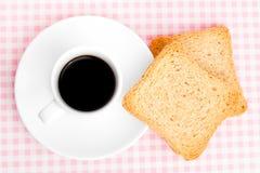 Koffie en toosts royalty-vrije stock fotografie