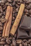 Koffie en vanilleachtergrond Royalty-vrije Stock Fotografie