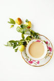 Koffie en vruchten Royalty-vrije Stock Foto's