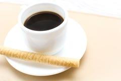 Koffie en wafeltje royalty-vrije stock afbeelding