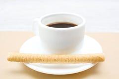 Koffie en wafeltje stock fotografie