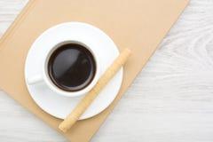 Koffie en wafeltje royalty-vrije stock foto