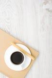 Koffie en wafeltje stock afbeelding