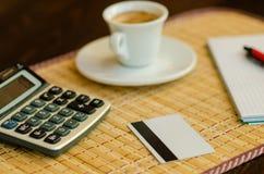 Koffie en Zaken Stock Foto