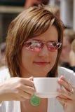 Koffie en zonneschijn royalty-vrije stock foto
