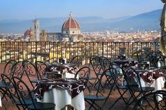 Koffie in Florencia stock afbeelding