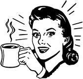 Koffie Gal stock illustratie
