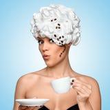 Koffie glam Royalty-vrije Stock Afbeeldingen