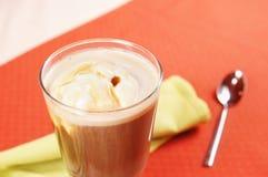Koffie Glasse met roomijs in een glas Royalty-vrije Stock Foto