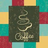 Koffie grunge Stock Foto