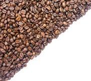 Koffie halve diagonaal als achtergrond Royalty-vrije Stock Afbeelding