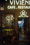 Koffie in Hanoi stock foto