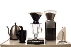 Koffie het Brouwen Post royalty-vrije stock afbeelding