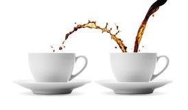 Koffie het delen Royalty-vrije Stock Foto's