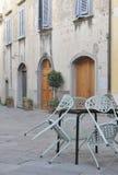Koffie in het Italiaans straat stock foto