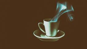 Koffie in kleurenatmosfeer, sepia `` stock fotografie