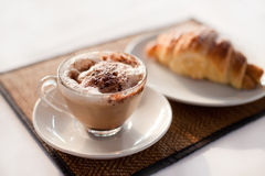 Koffie in koffie Stock Afbeelding