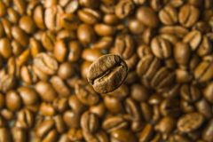 Koffie in koffie Stock Foto's