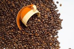 Koffie, koffiebonen stock foto