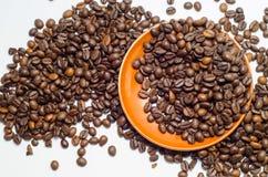 Koffie, koffiebonen stock foto's