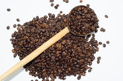 Koffie, koffiebonen royalty-vrije stock afbeelding