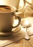 Koffie in kop Royalty-vrije Stock Foto