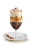 Koffie in lang glas Stock Fotografie