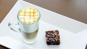 Koffie Latte stock afbeeldingen