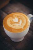 Koffie latte art. Stock Fotografie