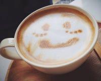 Koffie latte art. Stock Foto's