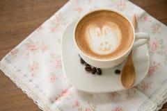 Koffie latte art. Royalty-vrije Stock Foto's