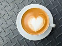 Koffie latte art. Stock Foto