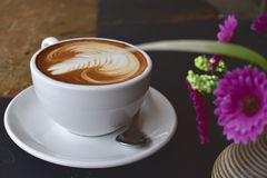 Koffie latte art. Royalty-vrije Stock Afbeelding