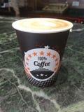 100% koffie latte latteart Royalty-vrije Stock Fotografie
