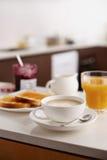 Koffie latte voor ontbijt Stock Afbeelding