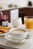 Koffie latte voor ontbijt Royalty-vrije Stock Foto