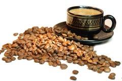 Koffie in licht Royalty-vrije Stock Fotografie