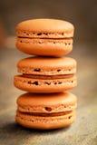 Koffie macarons stock afbeeldingen