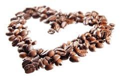 Koffie-makend hart Stock Foto's