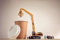 Koffie makend proces Grote details! Stock Afbeeldingen