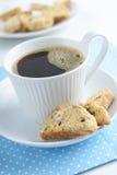 Koffie met biscotti Royalty-vrije Stock Afbeelding