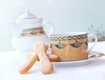 Koffie met cake Stock Afbeelding