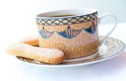 Koffie met cake Stock Foto's