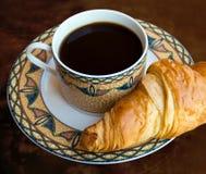 Koffie met cake Stock Afbeeldingen