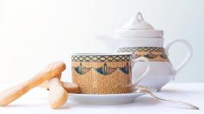 Koffie met cake Stock Foto