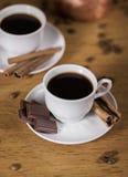 Koffie met een dessert Royalty-vrije Stock Afbeeldingen