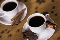 Koffie met een dessert Stock Afbeeldingen