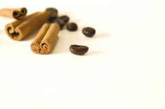 Koffie met kaneel Stock Afbeelding