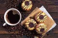 Koffie met koekjes Stock Afbeelding