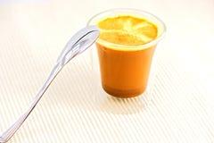 Koffie met lepel royalty-vrije stock afbeeldingen